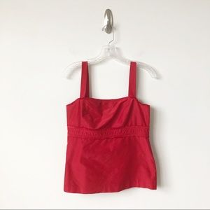 Lilly Pulitzer camisole bustier tank top silk red
